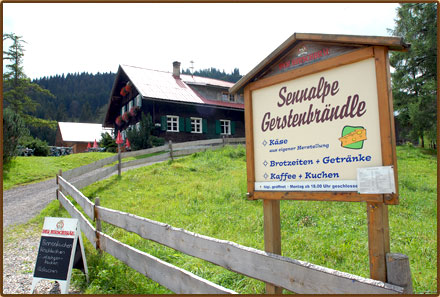 Sennalpe Gerstenbrändle in Gunzesried